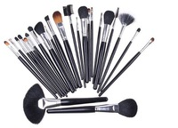 Free Shipping 24PCS Brand Make Up Makeup Cosmetic Brush Set with Black Leather Case