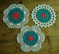 Crochet Doily Placemats table cloth cup mat Crochet Pattern cup pad coaster 3 Design 16CM, 30PCS/LOT Physical picture 100%