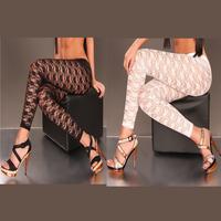 2015 HOT ! Elegant White Black Lace Legging For Women 16163 Free Size Fits Most Ladies Pants