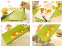 High quality Plastic multifunctional foldable chopping board Folding colander Kitchenware