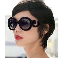 30pcs/lot Free Fedex Lady Gaga Sunglass Birds Butterfly Restor Round Sunglass Big Box Fashion Sunglass Q5061 Free ship Black