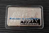 (lucyb0010) New product of silver bar for 2013 Stagecoach 4 x Quarter Ounce Silver Bar 50pcs free shipping