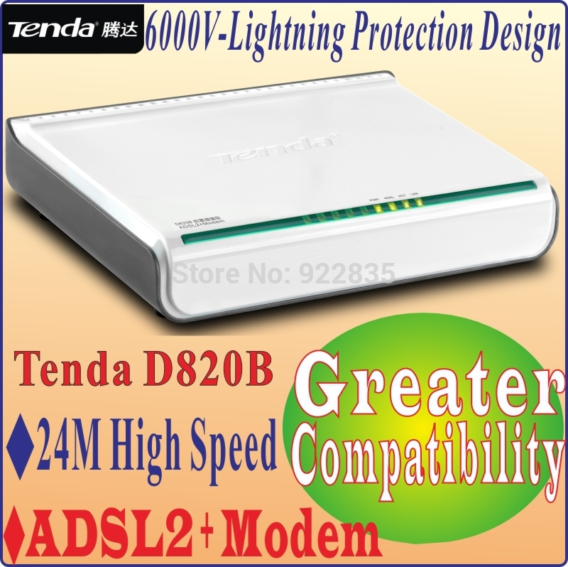 Tenda D820B High Speed DSL Internet Modem ADSL 2+ with 1-Port Switch Free Shipping(China (Mainland))