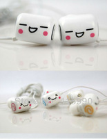 Cartoon cute Smile wired in ear Music Headphones Stereo MP3 MP4 earphones HD Mini Portable Media Player headset