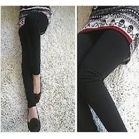 Multicolor Skull /False Two-piece  Legging Pantskirt Women's Fashion Leggings With Mini Skirts Slim Fit Thin Style