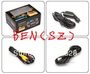 "2.7"" Full HD H.264 Car DVR Double 720P Camera V60 3.0mp CMOS sensor TFT LCD Color Screen 180 degree Rotating Mobile Detection"