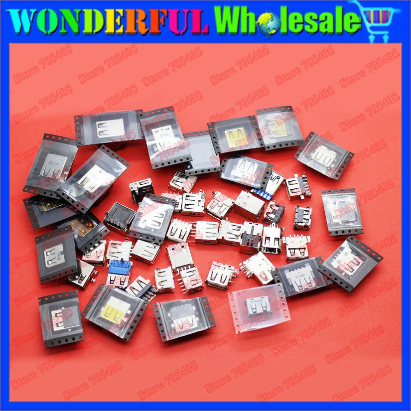 Pacchetto di esempio: mix 44 modelli, originale nuovo computer portatile presa usb, 44pcs/lot, 1 pz ogni modello
