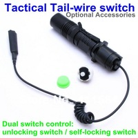 RD-920B Tactical Flashlight CREE XM-L U2 LED Light 1000LM  AluminumTorch POWER BY 18650 Rail Mount,Tail-wire Pressure Switch