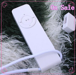 Freeshipping Cheap Mini 1pc Clip MP3 2GB/4GB/8GB Mp3 Player (Music player+Noodles Earphone+Usb+Hang rope+Retail box)(China (Mainland))