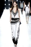 New 2013 To 2014 Top Grade Black White Quality Eelegant Long-sleeve Celt Dresses