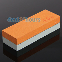 "New 4"" Razor Knife Whetstone 2 Sided Sharpener Sharpening Stone Grit Oilstone Free Shipping!"