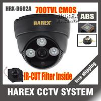 Recommand 700TVL CMOS with IR-CUT Filter Switch 3pcs Array IR leds indoor dome HD CCTV Camera. free shipping !!!