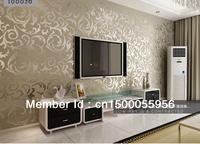 10 meter  tv background silver wallpapera decoration  living room bedroom pvc waterproof wall paper roll home decor vinyl wood