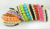 Min.order is $10 Mix Order Fashion Balls Pink Bracelet Bangle B1244