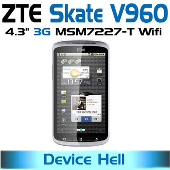 "Original 4.3"" ZTE Skate V960 3G Smartphone  Android  Gingerbread  WCDMA GSM Support YouTube Google free shipping"
