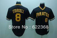 Cheap Mlb baseball uniform black 8 pirates stargell pirates MLB jerseys