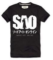 Free shipping New Sword Art Online kirito eleomargaric 100% cotton short-sleeve t-shirt cosplay costume