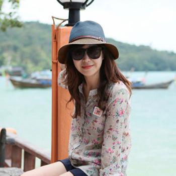 Free Shipping Fashion Hot Women Foldable Wide Large Brim Floppy Summer Beach Sun Straw Hat Cap Wholesale