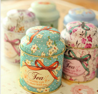 Free Shipping! 3pcs/lot New Fashion Tin Tea Can with Printing Tea Canister Multi-Use Storage Jar T1221