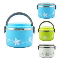 Japanese Metal Stainless Steel Food Storage Box for Kids Food Container Bento Box Lunch Box 1L w/ Handle Kitchen Accessories