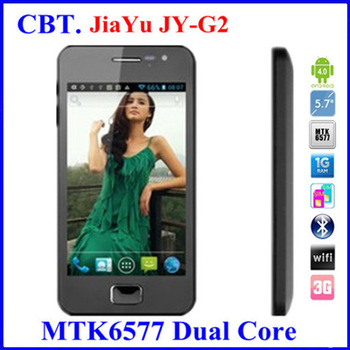 Jiayu G2 MTK6577 512M RAM  Android 4.0 mobile phones dure core Capacitive Screen 8MP Camera Dual Sim 3G