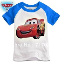 Children's t-shirts Cars t-shirt family clothing fashion Free shipping