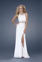 2013 Hot Sale Straigth Cheap Sheath/Column Scoop Sweep/Brush Train Chiffon with Beading Evening Dresses zhrx291