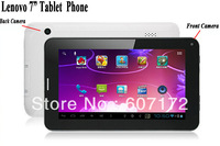 "Lenovo 7"" Tablet Phone Built-in GSM Module SIM Call Phone Bluetooth Allwinner A13 HDD 8G RAM 512M Android 4.0 Dual Camera Wifi"