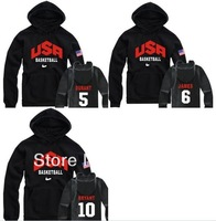 Free shipping USA Basketball hoodie for winter fleece usa basketball team sweatshirt with hood 8 Color Number can be choose