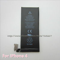 10pcs/lot 100% Guarantee Best Quality New Mobile phone battery for iphone 4 4G Free shipping