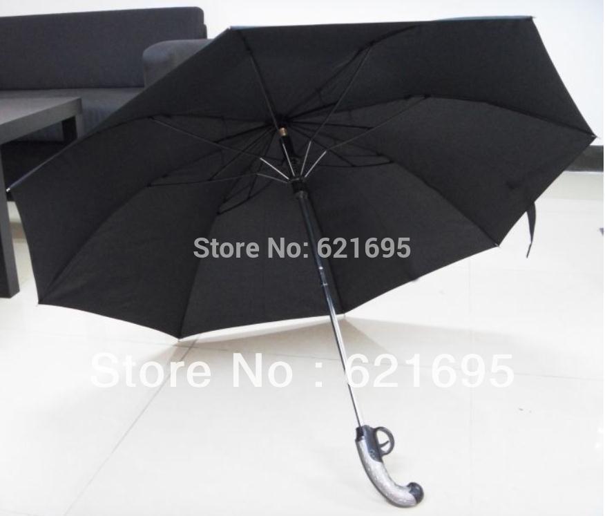Free shipping 50pcs/lot Creative Western Weapons Rifle Gun Fashion umbrella ,Spear Folding umbrella(China (Mainland))