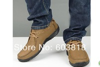 Camel shoes casual shoes Men 45 46 leather plus size leather shoes