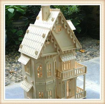 3d educativo juguetes casa de madera diy villa g tica - Bricolaje para casa ...