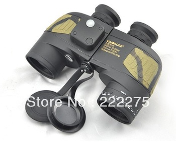Visinking 7x50 floating Binoculars with Build-in Compass and reticle range finder Military outdoor Telescopes