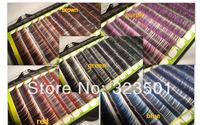 Free shipping 1pcs Mix Size Two-tone Mink eyelash Colorful Mink Individual Eyelash False Eyelash