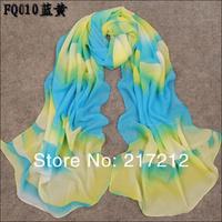 2012 New Women's summer and winter Fashion rainbow colorful printed chiffon georgette silk scarf/ shawl SC127!