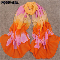 2013 Hot style New Women's summer and winter Fashion colorful printed Design chiffon georgette silk scarf/ shawl SC136!