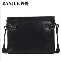 Free shipping College Old fashion mens genuine leather bag men Danjue Brand children school bags D90013-2