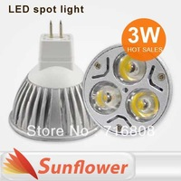 10pcs/lot High power 3W led spotlight MR16 12V gu5.3 E27 E14 GU10 220V Aluminum for home lamp bulb Warm /Cool White FreeShipping