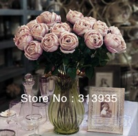 2013High simulation decorative artificial  flower jewelry Hibiscus Heart Rose corsage living room European style silk roses