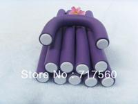 20pcs Dark Purple DIY Hair Curler Makers Soft Foam Bendy Twisted Hair Rollers 180mm*12mm