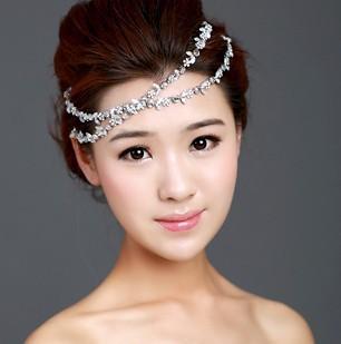 Free Shipping 2pcs/lot!Elegant Rhinestone Flower Hairband Princess Hair Accessory Wedding Party Jewelry Bridal Accessory  QHG005