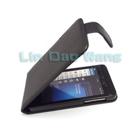 Black Flip Leather Case Cover Pouch + LCD Film For Blackberry Z10