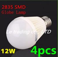 4pcs/lot E27 12W 2835SMD AC85-265V Bubble Ball Bulb High power Energy Saving Ball LED Light Bulbs Lamp Lighting Free shipping