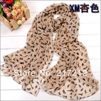 Free Shipping! Spring and Summer 2013 New Women's Fashion cat printed Design chiffon georgette silk scarf/ shawl!