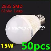 50pcs/lot E27 15W 2835SMD AC85-265V Bubble Ball Bulb High power Energy Saving Ball LED Light Bulbs Lamp Lighting Free shipping