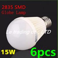 6pcs/lot E27 15W 2835SMD AC85-265V Bubble Ball Bulb High power Energy Saving Ball LED Light Bulbs Lamp Lighting Free shipping