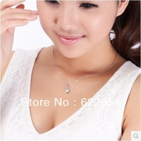 "Fashion Romantic AAA CZ diamond "" Angel of love"" pendant necklace short design chain 925 sterling silver necklace"