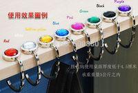 freeshipping 2014bag hook Round foldable Bag Hanger/Purse Hook/Handbag Holder with Acrylic Mix Fashion