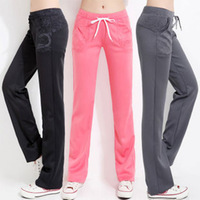 2014  sports casual pants female trousers silk sports slim breathable comfortable soft